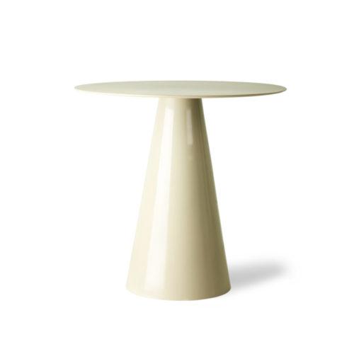 Table d'appoint en métal blanc crème