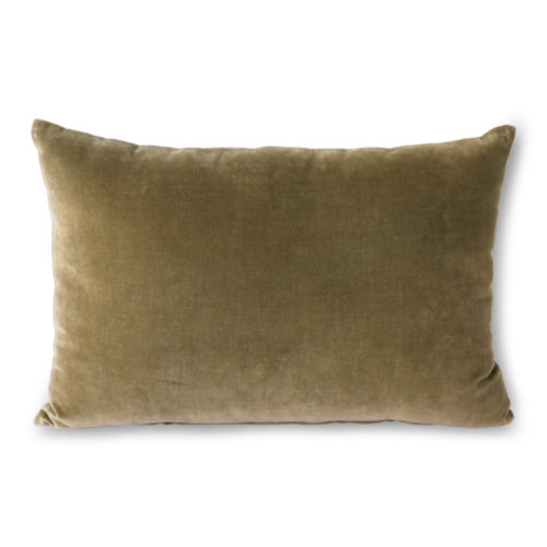 Coussin Velours Army